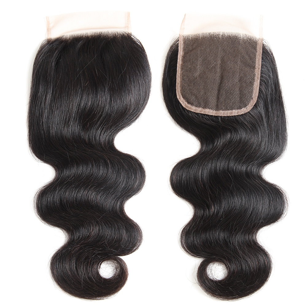 MORICHY Brazilian Body Wave Closure Free/Middle/3 Part Human Hair Lace Closure With Baby Hair 130% Density 8-20 Inch Remy