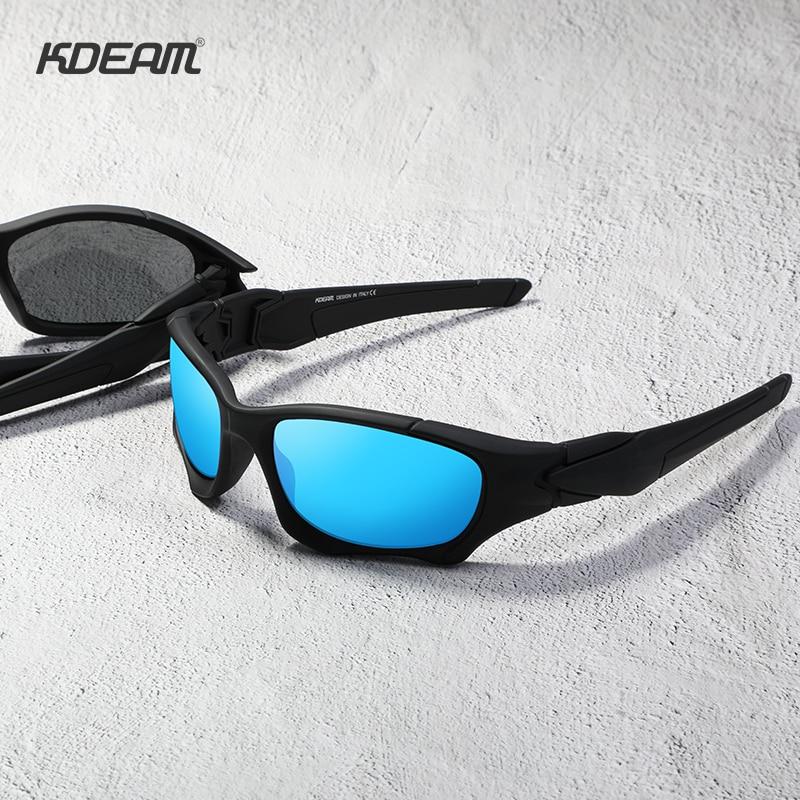 KDEAM Outdoor Sports Polarized Sunglasses Men Curve Cutting Frame Stress-Resistant Lens Shield Sun Glasses Women KD0623 6