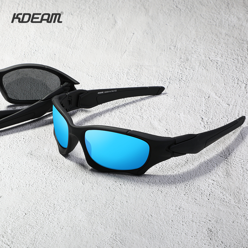 KDEAM Outdoor Sports Polarized Sunglasses Men Curve Cutting Frame Stress-Resistant Lens Shield Sun Glasses Women KD0623 5