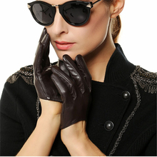 hot sale women genuine leather gloves short paragraph fashion half palm gloves lambskin leather gloves tide performances l098n 2019 New Genuine Leather Women Gloves Female Dance Sheepskin Gloves Fashion Trend Short Style Fingers Unlined L098N-1