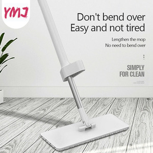 Image 1 - Hand Wash Free Mop Refill Rectangle Flat Mops Rotatable Aluminum Handle Floor Cleaning Artifact Household Floor Cleaner