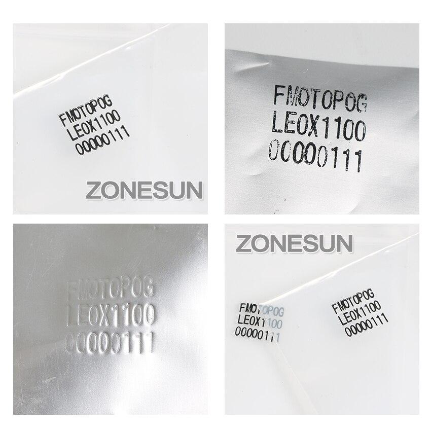Machine de codage de date ZONESUN imprimante de code de date d'expiration manuelle, codeur de timbre Foll chaud, machine de date d'expiration - 2