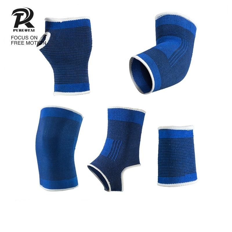 Вязание лодыжки защиты растяжение для Баскетбол 2018 спортивные Футбол Бег Дышащий Бинт ног наручные Голеностопные бандажи