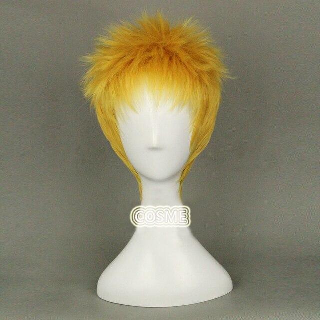 Attacco su titan reiner braun cosplay parrucca oro breve anime parrucca  gigante capelli sintetici gigante wig 2400c2f53158