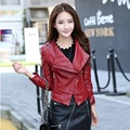 suede leather short casual womens biker clothing Slim female motorcycle leather jacket turn down collar luxury clothing women