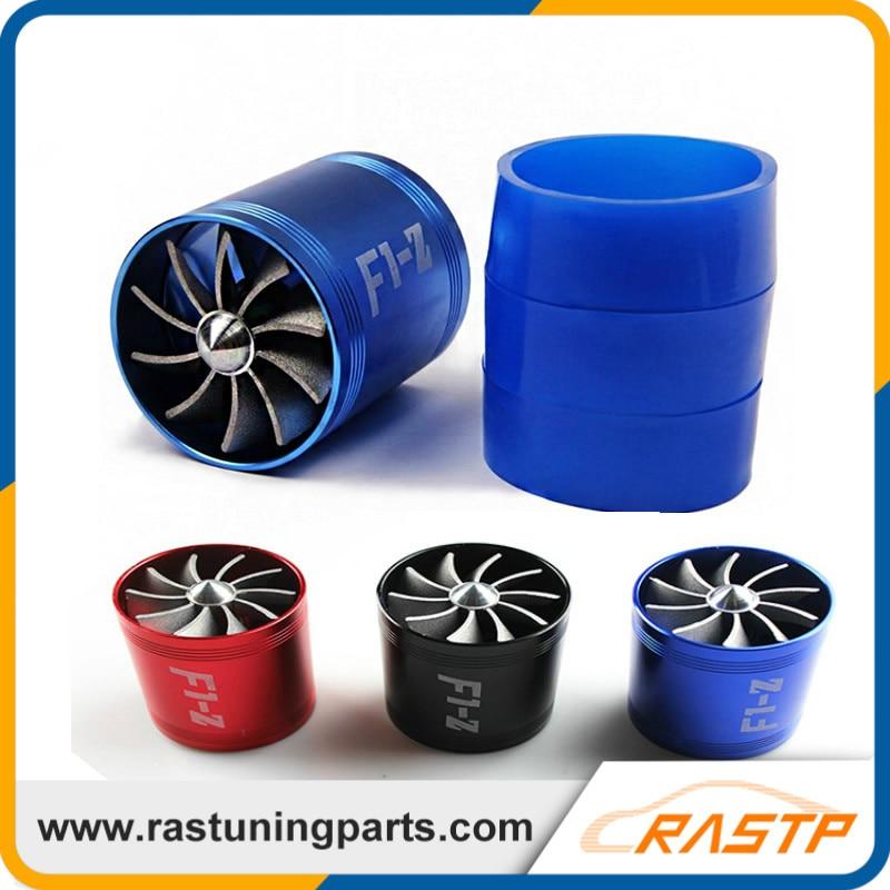 Prix pour RASTP-Turbo D'admission D'air Ventilateur Supercharger Voiture Double Double Côté Carburant Gas Saver Hélice Turbonator Ventilateur LS-TUR007