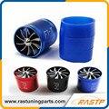 RASTP-Turbo Ventilador De Entrada De Aire de Sobrealimentación Coche Dual Lateral Doble Hélice Turbonator Fuel Gas Saver Ventilador LS-TUR007