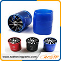 RASTP-Turbo Ventilador de Entrada De Ar Supercharger Carro Dupla Dupla Face Fuel Gas Saver Hélice Turbonator Ventilador LS-TUR007