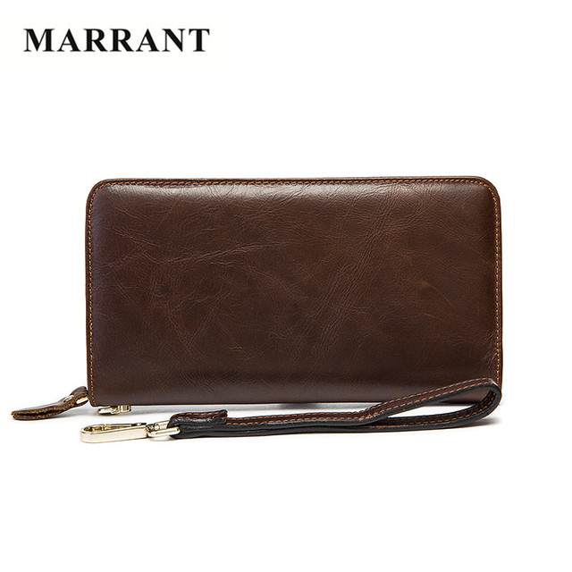 MARRANT 100% Genuine Leather Wallets Men Fashion Men's Clutch Wallets High Quality Men Purse Cowhide Leather Hand Bags Men Bags