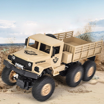JJRC Q68 1:18 2.4G Six-Wheeled RC Military Truck - RTR 10km/H Speed Non-Slip Wear-Resistant Tires Iron Cover Motor RC Cars Gifts