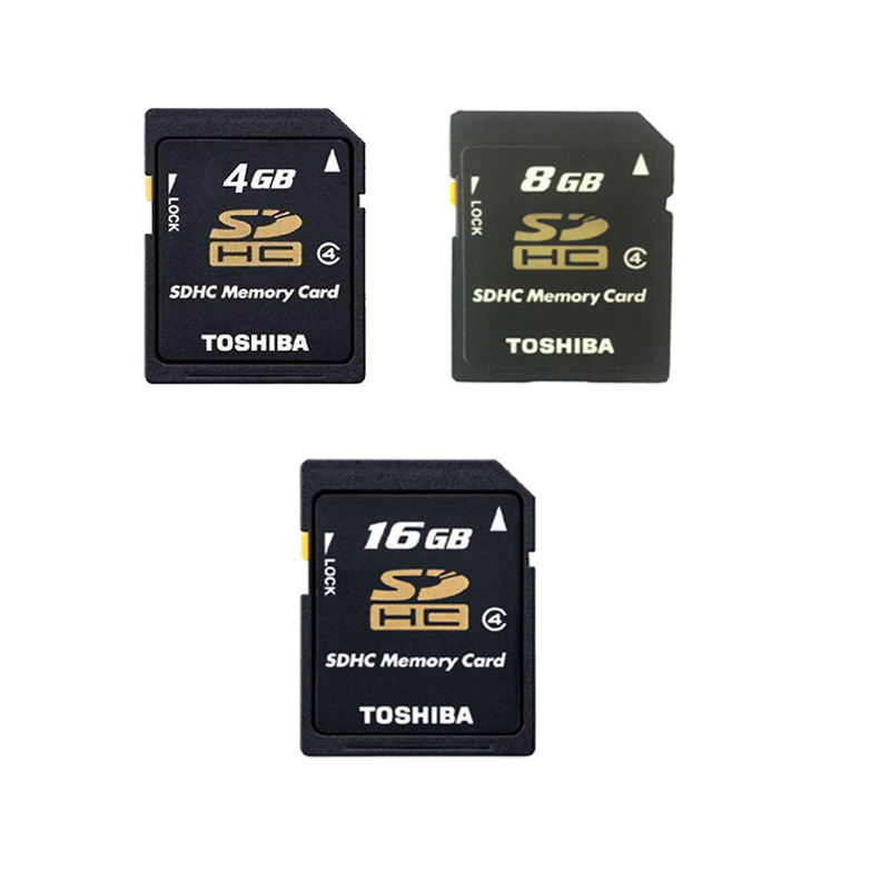 Toshiba Gros 10 pcs/lot 4 gb 8 gb 16 gb SD Carte C4 Classe 4 Haute Vitesse U4 Serrure SDHC 16 gb Carte Mémoire Tarjetas SD Pour Appareil Photo