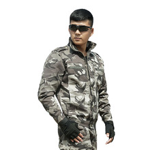 DOMAN Mens Outdoor Tactical Hunting Clothing Camouflage Suits for Men Women Army Unfiroms Military Combat Jacket + Pants CS Sets