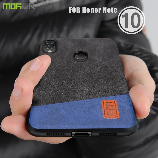 new styles 78529 66bc8 US $8.69 13% OFF Honor note 10 Case Cover MOFI For HUAWEI Honor note 10  Fabric Leather Back Cover Case note 10 waterproof Full cover Case-in Fitted  ...