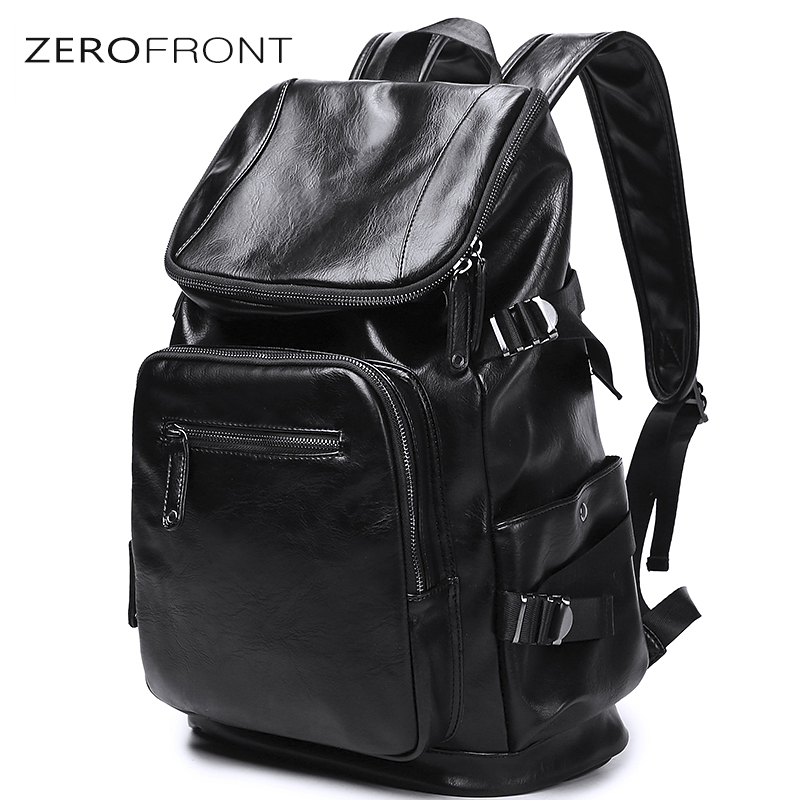 New Preppy Style Large Capacity Men's PU Leather Backpack For Travel Casual Male 15.6 inch laptop bag Daypacks Travel Backpack yeetn h 2017 new ma n backpack grain pu leather black fashion backpack travel bag for male free shipping y1185