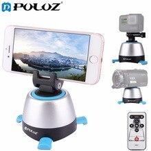Puluz электронные 360 градусов вращения панорамные штативные головки с пульта дистанционного управления вращающейся головкой для смартфонов GoPro Камера