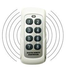 433MHZ RF 스위치 모듈 원격 제어 송신기 8 버튼 범용 무선 키 학습 코드 게이트 차고 문