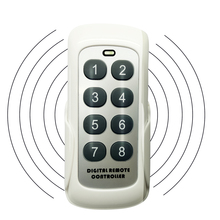 433MHZ RF Schalter Modul Fernbedienung Sender 8 Tasten Universal Wireless Key Lernen Code Für Tor Garage Tür