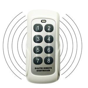 Image 1 - Modulo di commutazione RF 433MHZ trasmettitore telecomando 8 pulsanti codice di apprendimento chiave Wireless universale per porta del Garage del cancello