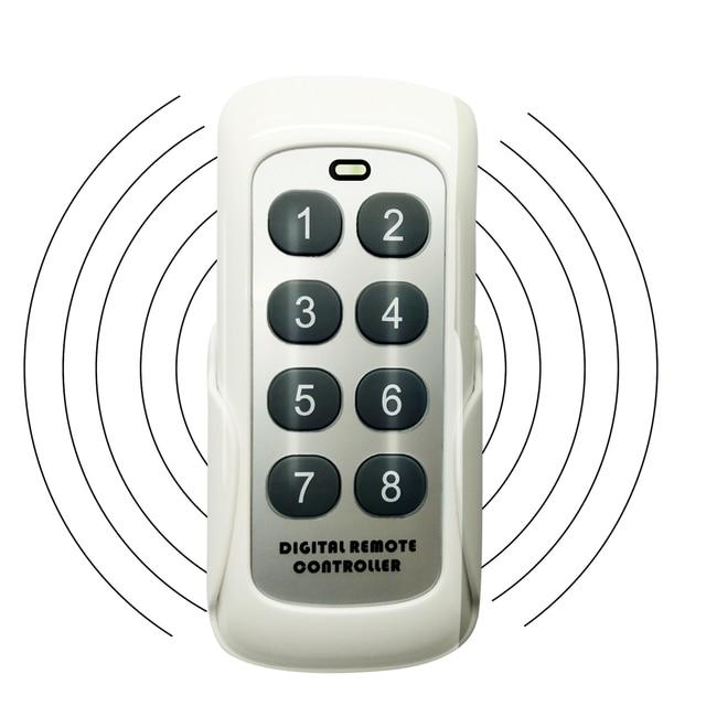 Modulo di commutazione RF 433MHZ trasmettitore telecomando 8 pulsanti codice di apprendimento chiave Wireless universale per porta del Garage del cancello