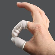 Eyebrow Extension Gloves Practical Disposable Anti Static Rubber Latex Finger Cots Off Eyelash Extension Beauty Tool Accessories