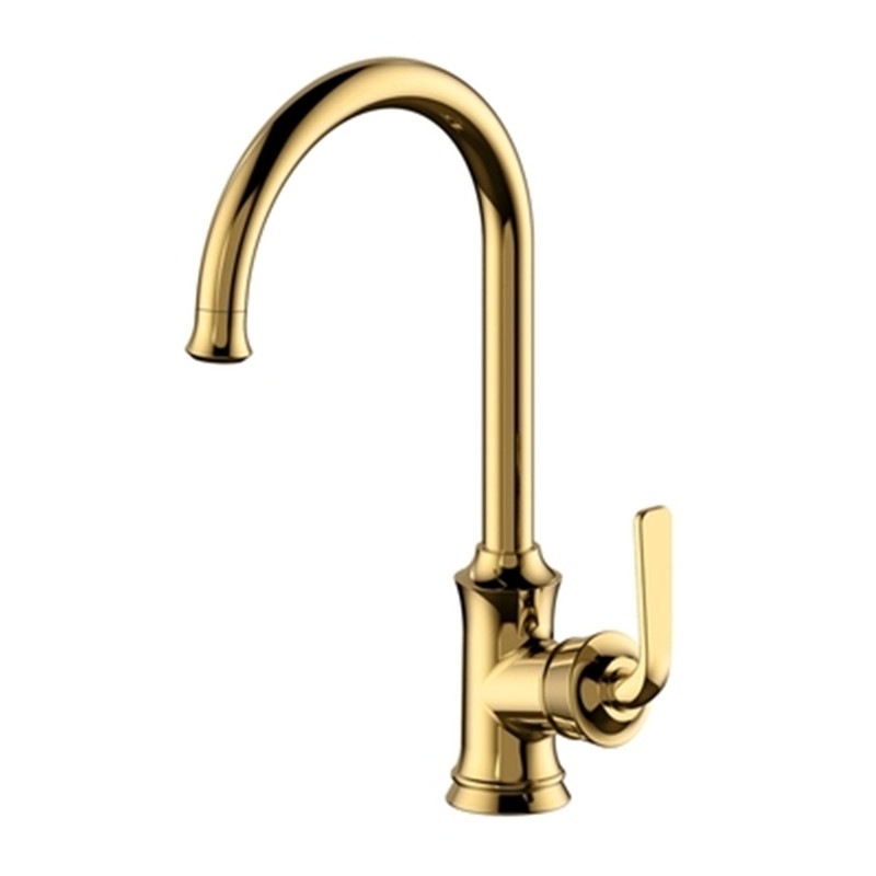 Free Shipping Brass plated Chrome kitchen faucet hot and cold faucets 360 degrees kitchen faucet El grifo de la cocina ydl f 0581 wall type 360 degrees rotatable chrome plated brass kitchen sink faucet silver