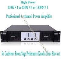 4 канальный усилитель 1300 Вт x4 усилитель аудио профессиональный микрофон Микрофон Мощность усилитель сабвуфера Питание Amp