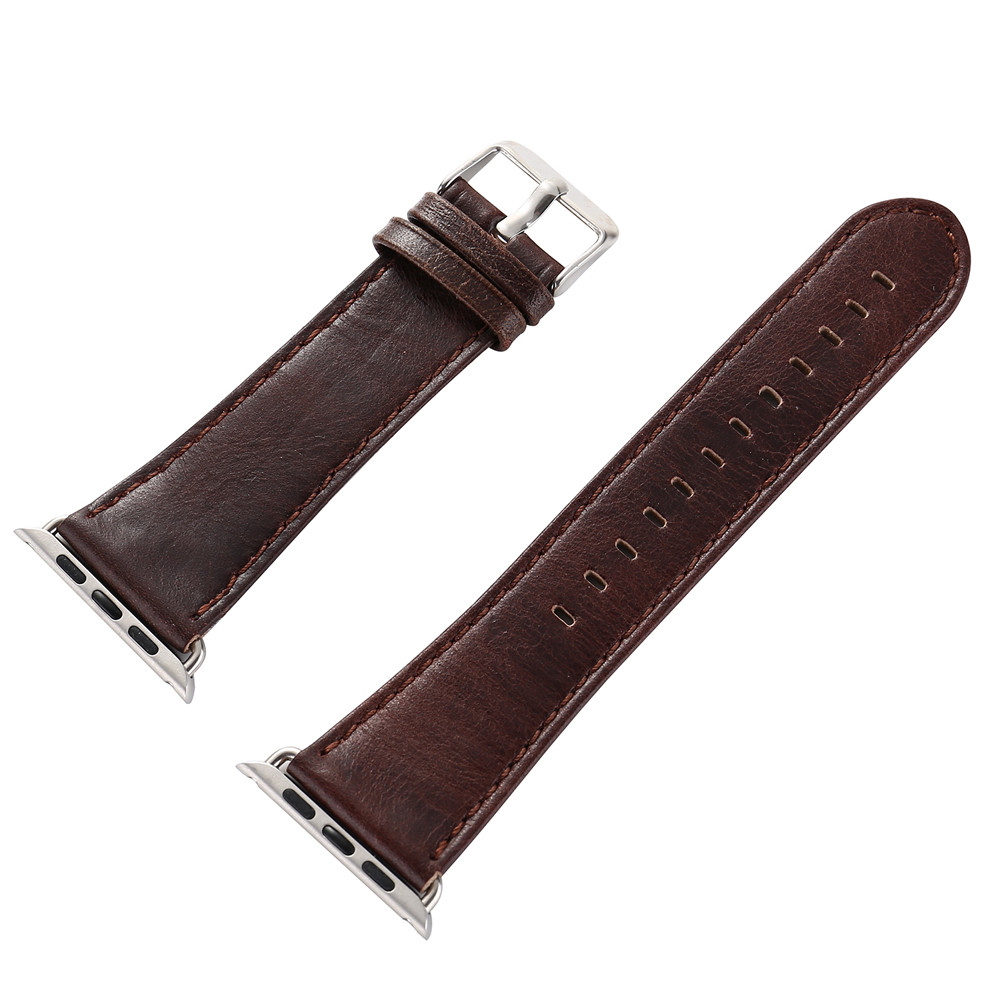 Permalink to Watchbands Leather Watch Band Leather Buckle Wrist WatchBand Strap Horses Belt for Apple Watch 42mm For iwatch