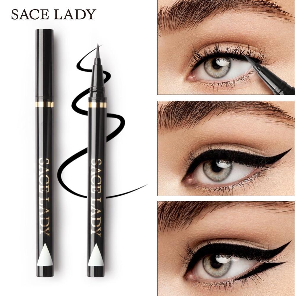 SACE LADY Liquid Eyeliner Waterproof Makeup Black Eye Liner Pencil Long Lasting Make Up Smudge-proof Pen Natural Brand Cosmetic