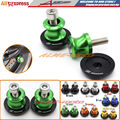 Motorcycle Accessories CNC Aluminum Swingarm Sliders Spools 8mm For KAWASAKI Z800 2012 2013 2014 2015 Green
