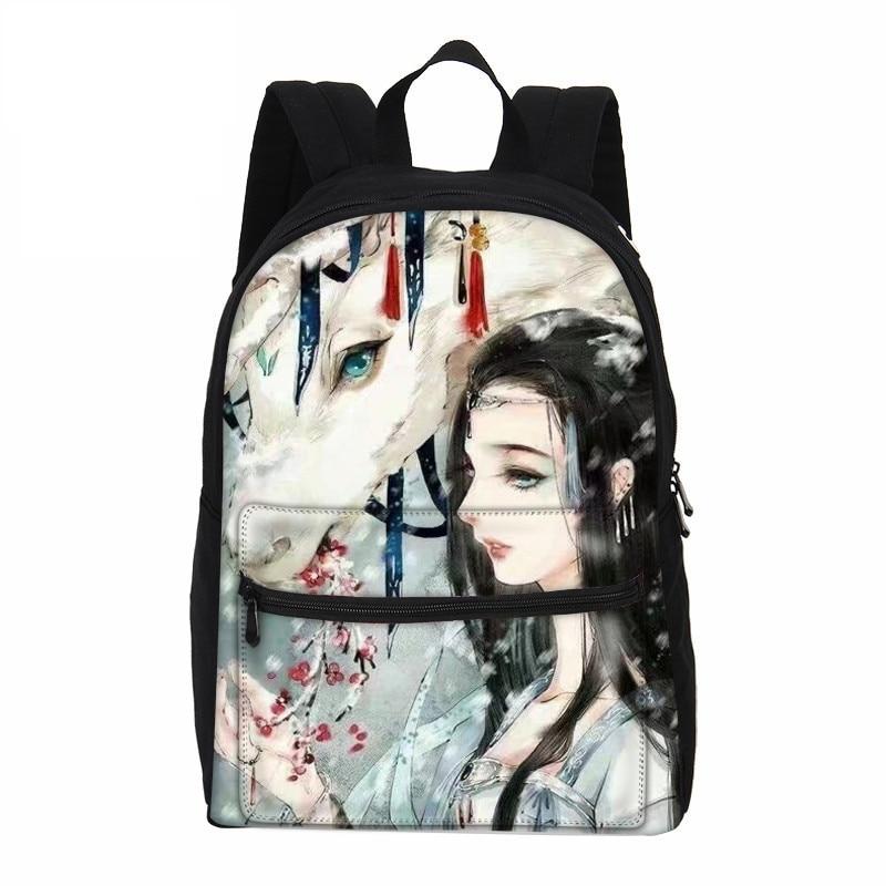 VEEVANV Women Backpacks Bags Shoulder-Bags Children Rucksack Canvas School Anime Girls