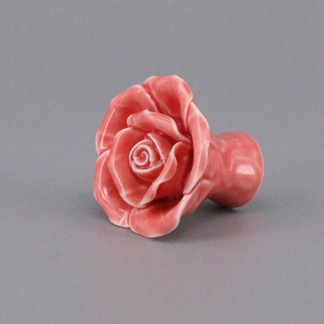 Rose Vintage Rose Fleur En Céramique Chambre Décor Porte Boutons ...