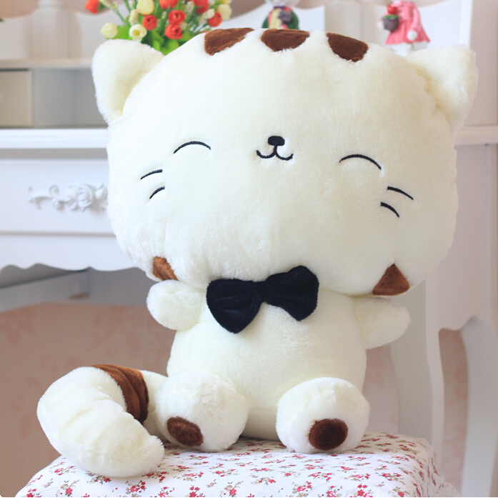 2color 45cm Lovely Big Face Smiling Hello Kitty Cat Cat Stuffed