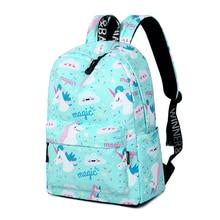 Cartoon Unicorn Patterned Backpack