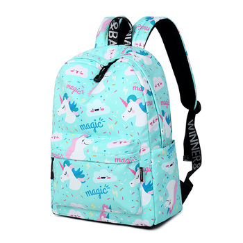 Women Unicorn Cute School Printing Backpack