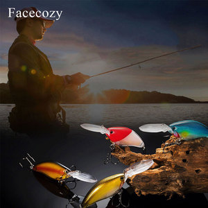 Image 4 - Facecozy לייזר מצופה זוהר פיתוי מלאכותי מינאו פיתיון Swimbait 1Pc 11cm דיג פתיונות מאוד מציאותי Crankbait שני ווים