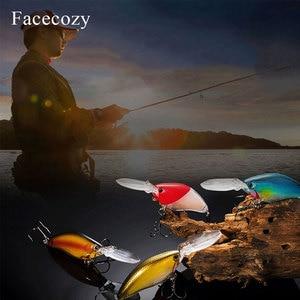 Image 4 - Facecozy lazer kaplı işıltılı Lure yapay Minnow yem Swimbait 1 adet 11cm balıkçılık Lures son derece gerçekçi Crankbait iki kanca