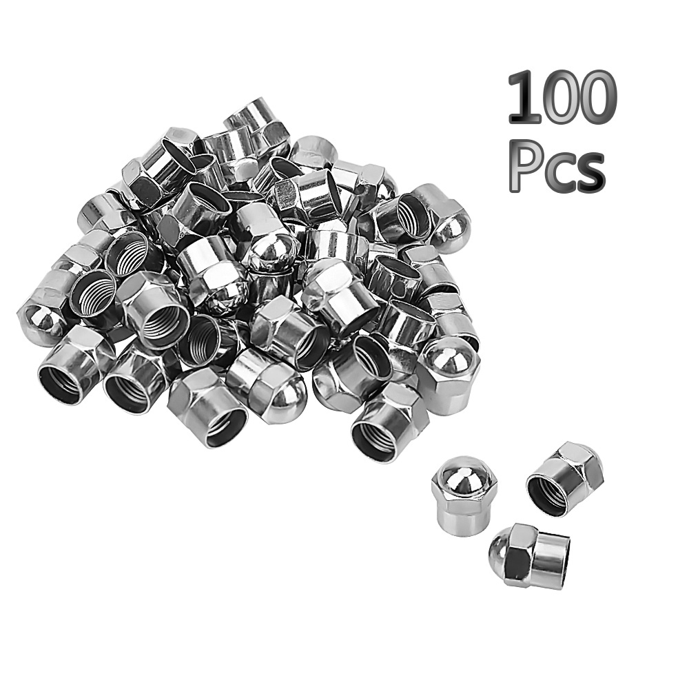 100Pcs Car Wheel Tire Valve Stem Cap Round Head Car Tyre Air Pressure Caps Chrome Plated Airtight Cover Tire Accessories100Pcs Car Wheel Tire Valve Stem Cap Round Head Car Tyre Air Pressure Caps Chrome Plated Airtight Cover Tire Accessories