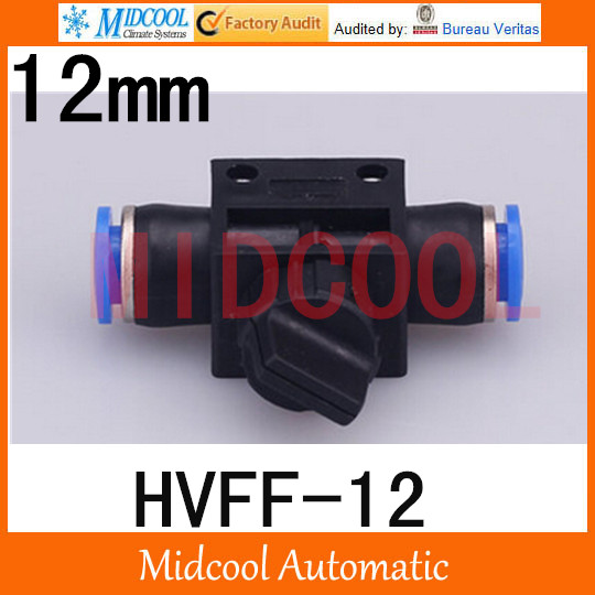 Free shipping HVFF 12 mini hand valve control valve Pneumatic components quick connector plastic plugs