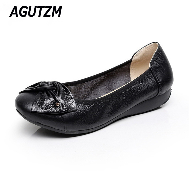 Handmade genuine leather ballet flat shoes women female casual shoes women flats shoes slip on leather car-styling flat shoes women shoes handmade genuine leather