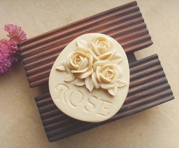 gėlių modelis rankų darbo muilo formų rožių gėlių muilas - Virtuvė, valgomasis ir baras - Nuotrauka 6