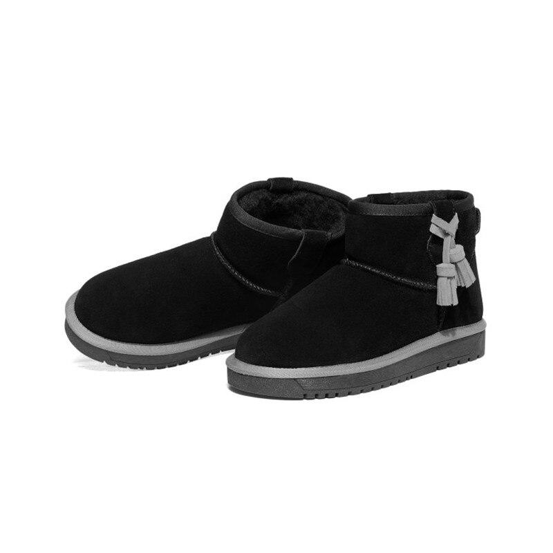 Neve stivali di Cuoio genuini zapatos mujer Stivaletti per le Donne Inverno Stivali botas femininas Scarpe Invernali SN361 80-in Stivaletti da Scarpe su  Gruppo 2