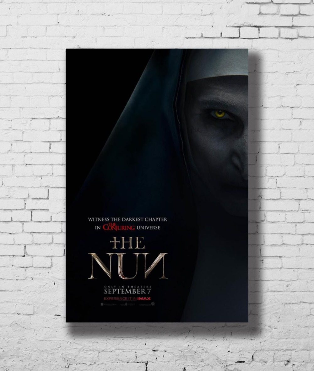 G-739 The Nun Movie The Conjuring Horror 2018 Film Fabric Home Decoration  Art Poster Wall Canvas 12x18 20x30 24x36inch Print