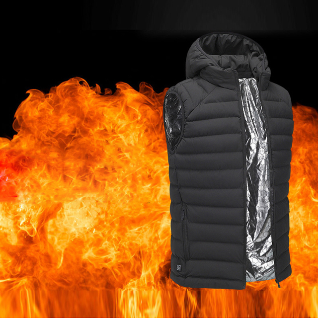 Liplasting Unisex USB Infrared Heating Electric Thermostat Down Cotton Fever Vest