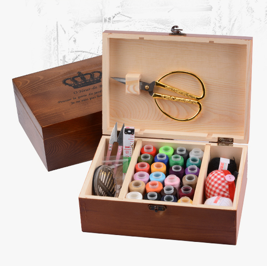 Retro sewing box set Sewing kit Home Korean sewing thread Sewing storage box Cross stitch tools  sc 1 st  AliExpress.com & Retro sewing box set Sewing kit Home Korean sewing thread Sewing ...