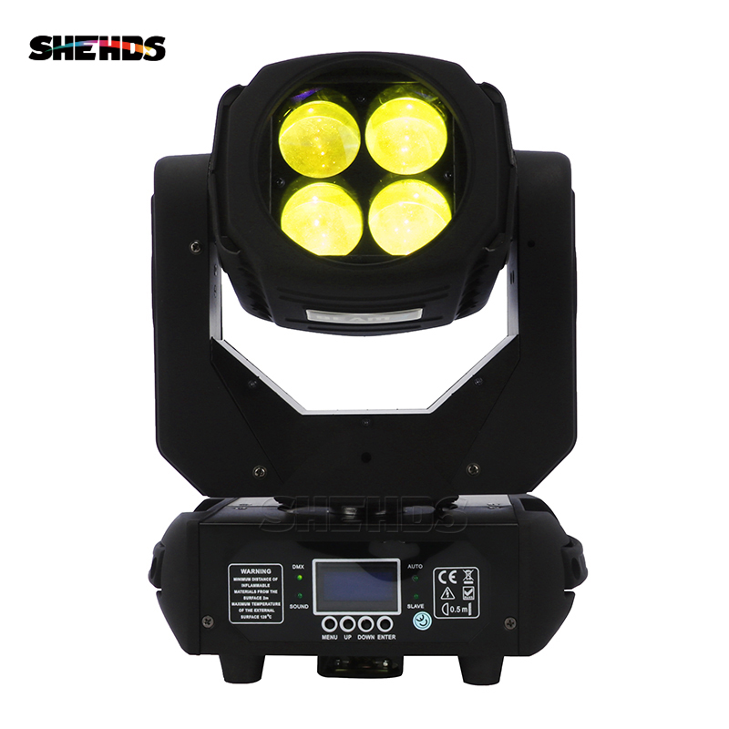 HOT Sell 4x25W LED Beam Moving Head Light Super Beam DMX512 Sound Active Master/Slave Stand Alone Professional For DJ Disco Bar