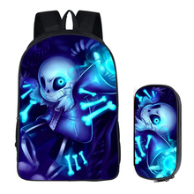 16 inch Undertale Backpack for Teenage Girls Boys Book Bag Sans Travel Bag Undertale Children School Backpacks Pencil Bag Sets