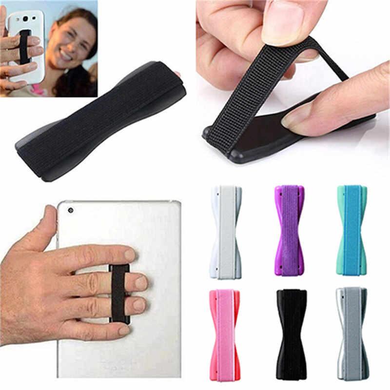 Слинг для пальца рукоятка эластичный ремешок Универсальный держатель для телефона Подставка для мобильных телефонов планшеты для iPhone X samsung huawei