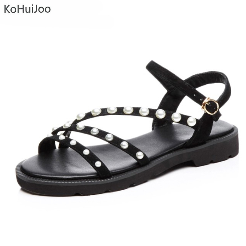 411d52adbc83a4 New Model 2018 39 Flops Gladiator Sandals Flat Bead Shoe Ladies Women  KoHuiJoo 34 String Flip ...
