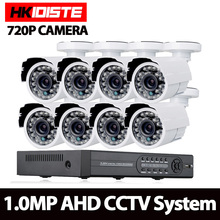 AHD 8CH CCTV System 1080P HDMI DVR 720P 2000TVL Outdoor Weatherproof CCTV Camera set Home Security System Surveillance Kit