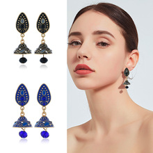 цена на Boho Water Drop Earings For Women Indian Dangle Earrings Ethic Tribal  Middle East Retro National Style Bell Fashion Jewelry